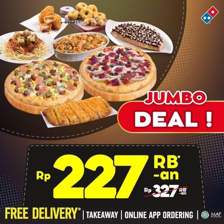 Diskon Domino's Pizza Promo Jumbo Deal Hanya Rp. 227Ribuan