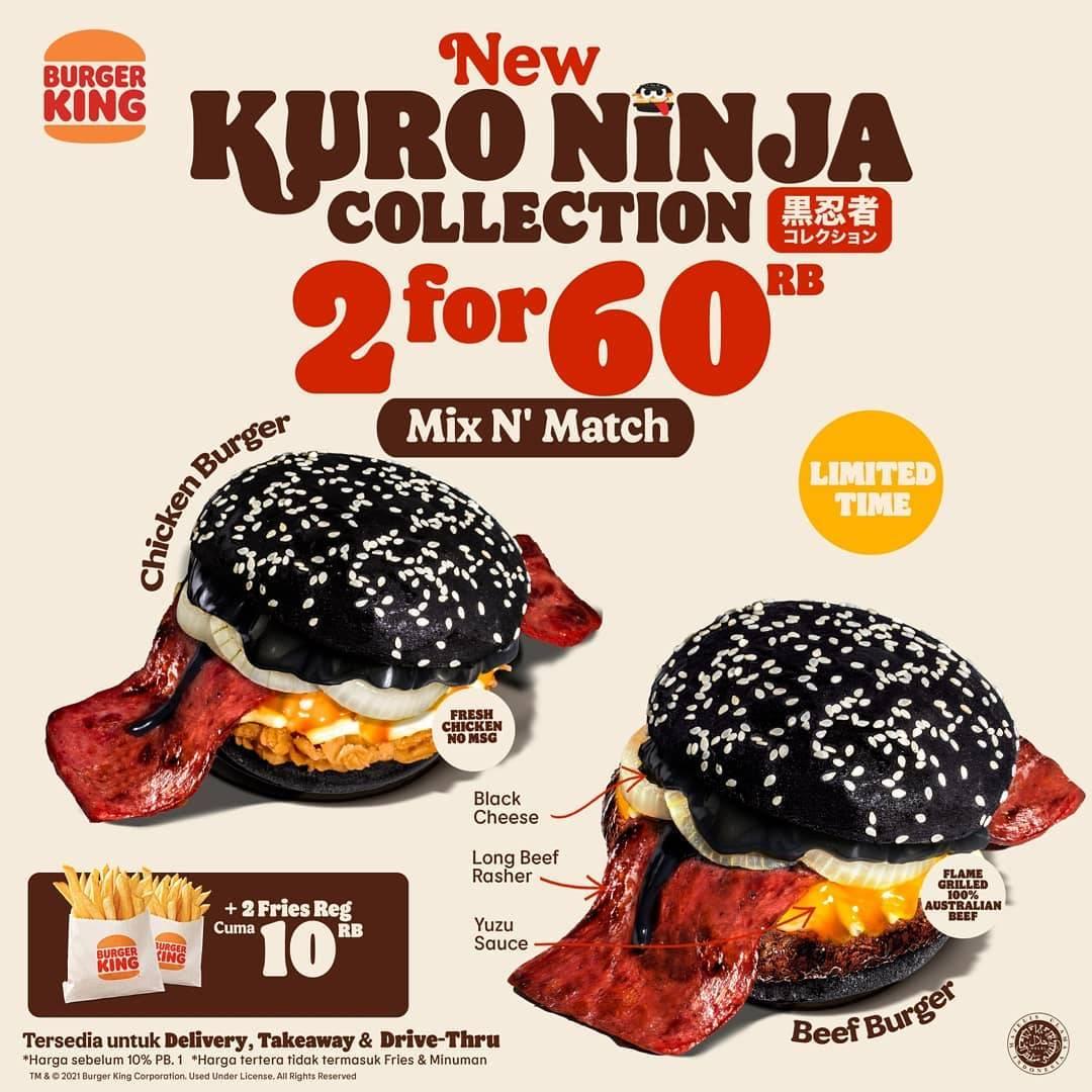 Diskon Burger King Promo 2 For Rp. 60.000 On Kuro Ninja Collection