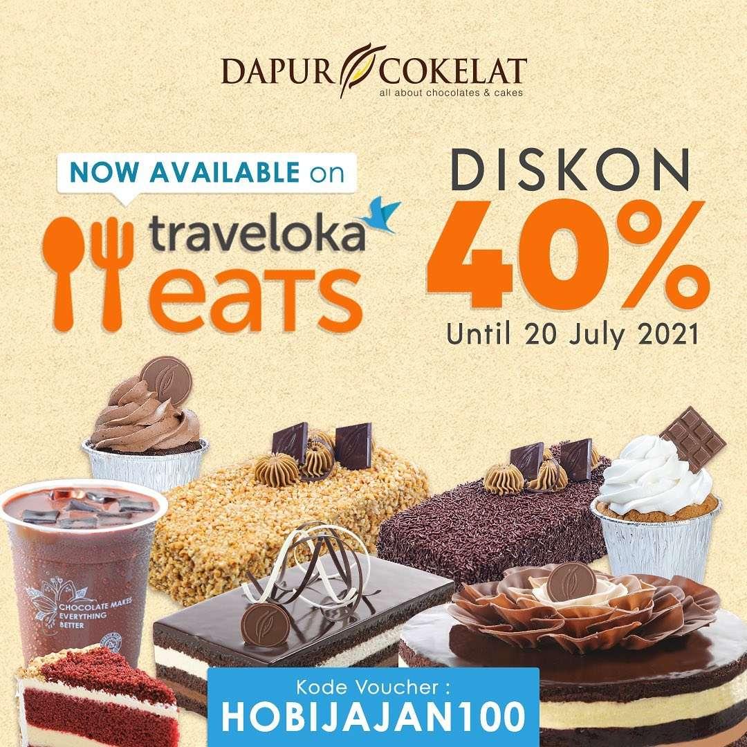 Diskon Dapur Cokelat Diskon 20% Dengan Traveloka Eats