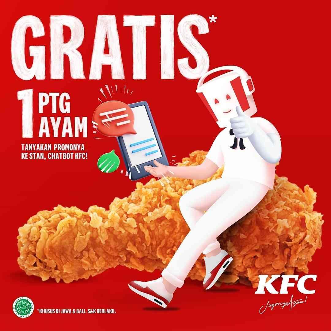 Diskon KFC Gratis 1 Potong Ayam Setiap Menghubungi Stan