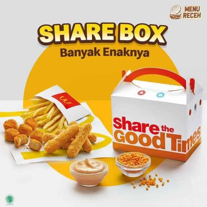 Diskon McDonalds Promo Share Box Hanya Rp. 39Ribuan