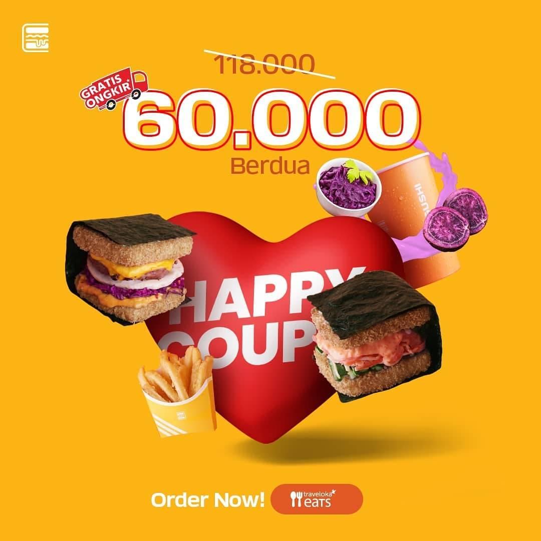 Diskon Burgushi Promo Makan Puas Berdua Hanya Rp. 60.000