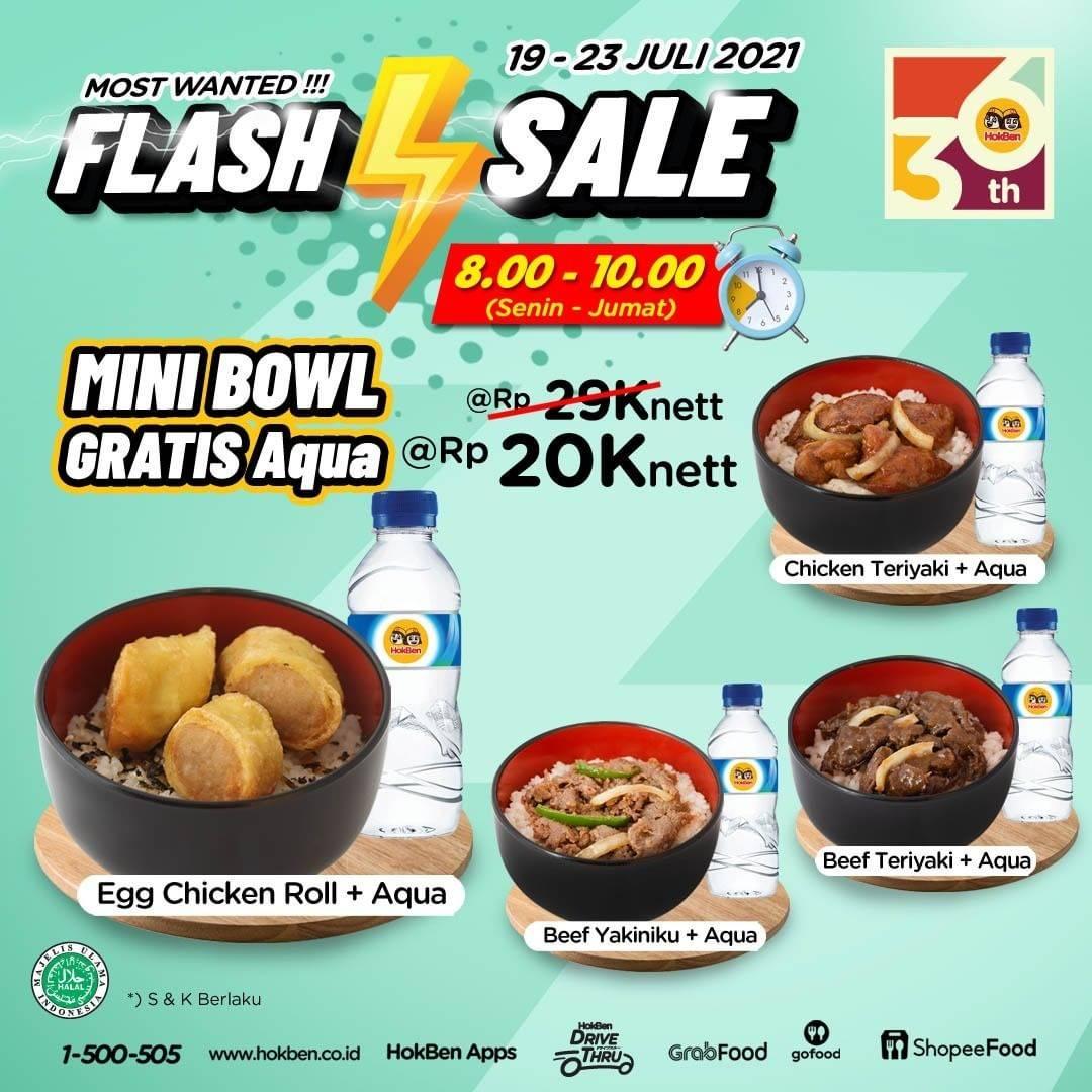 Diskon Hokben Flash Sale Mini Bowl Gratis Air Mineral Hanya Rp. 20.000