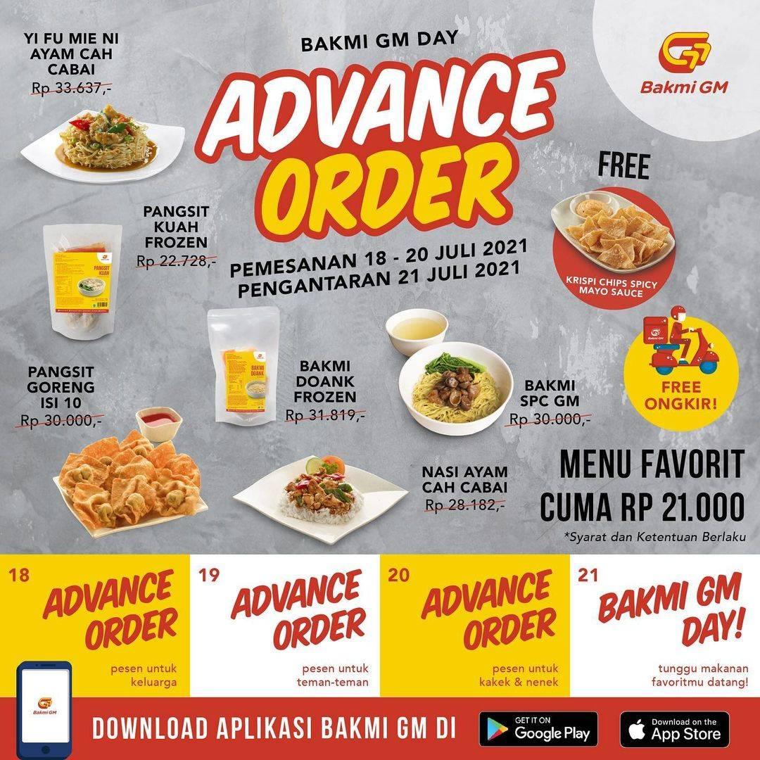 Diskon Bakmi GM Day Promo Advance Order