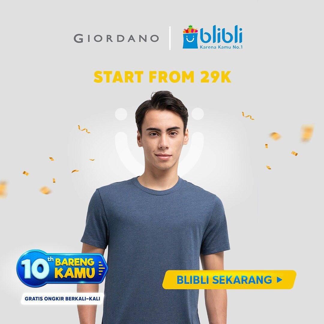 Diskon Giordano Promo Start From Rp. 29.000 Dengan Blibli