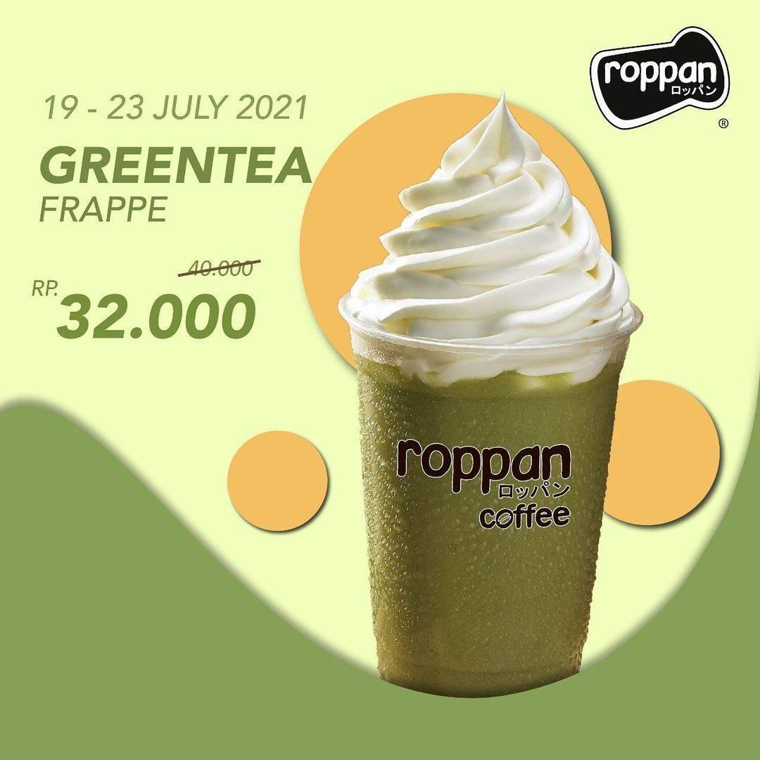 Diskon Roppan Promo Green Tea Frappe Hanya Rp. 32.000