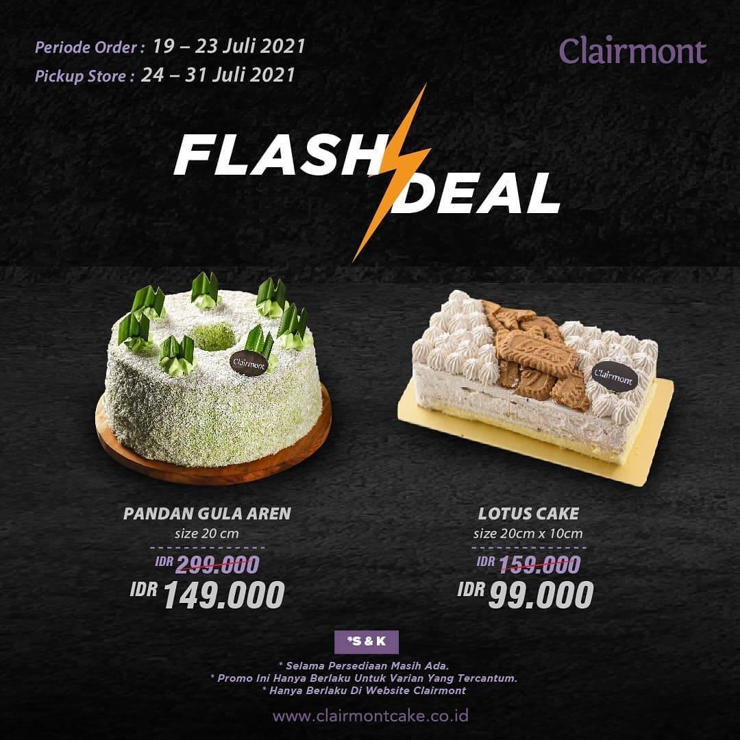 Diskon Clairmont Patisserie Flash Deal Mulai Dari Rp. 99.000