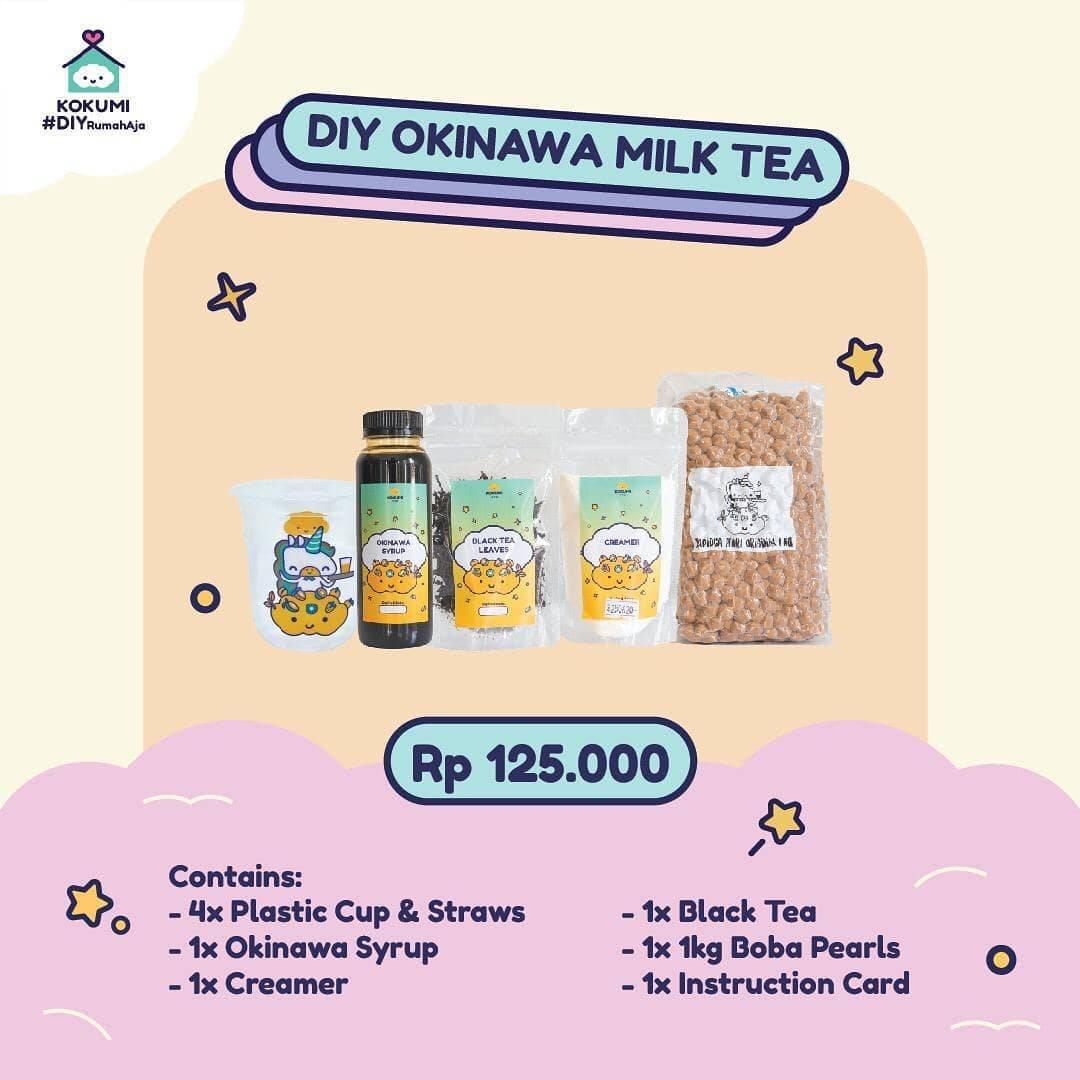 Diskon Kokumi Promo DIY Okinawa Milk Tea Hanya Rp. 125.000