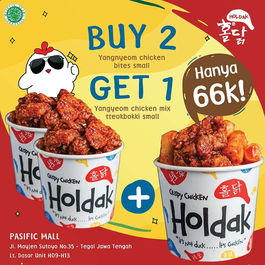 Diskon Holdak Buy 2 Get 1 Free Yangyeom