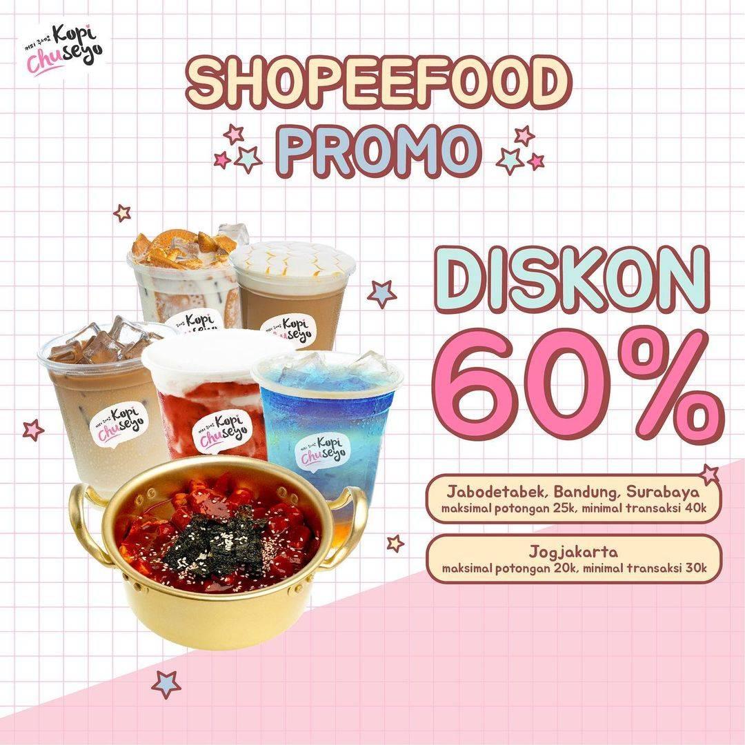Diskon Kopi Chuseyo Diskon 60% Dengan ShopeeFood