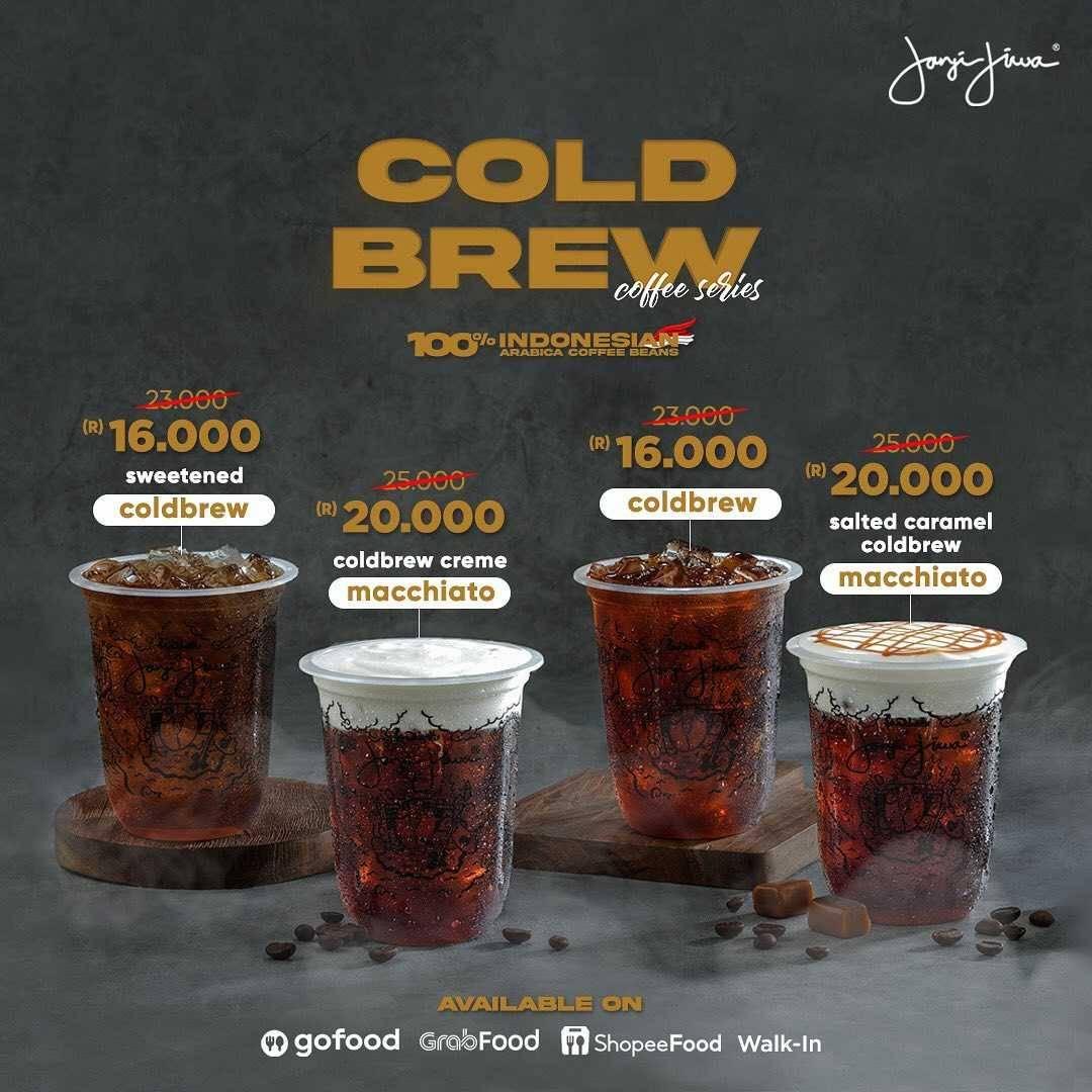 Promo diskon Kopi Janji Jiwa Promo Cold Brew Coffee Series Mulai Dari Rp. 13.000