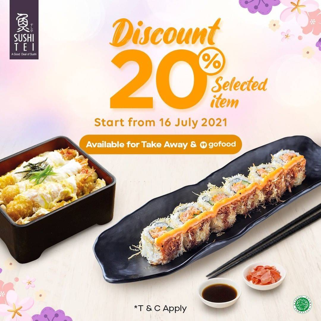 Diskon Sushi Tei Discount 20% Off