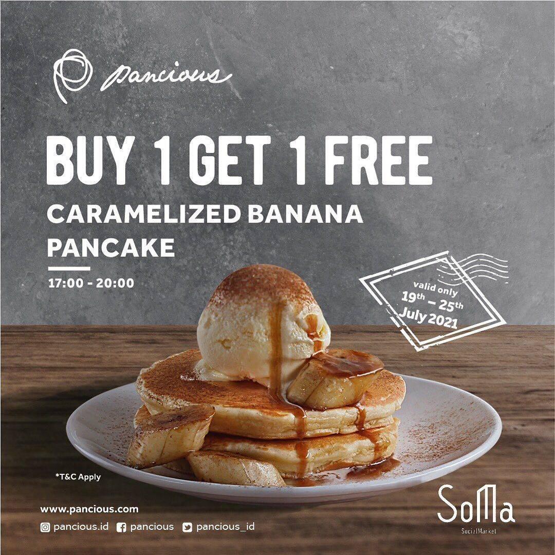 Diskon Pancious Buy 1 Get 1 Free Pancake and Spaghetti