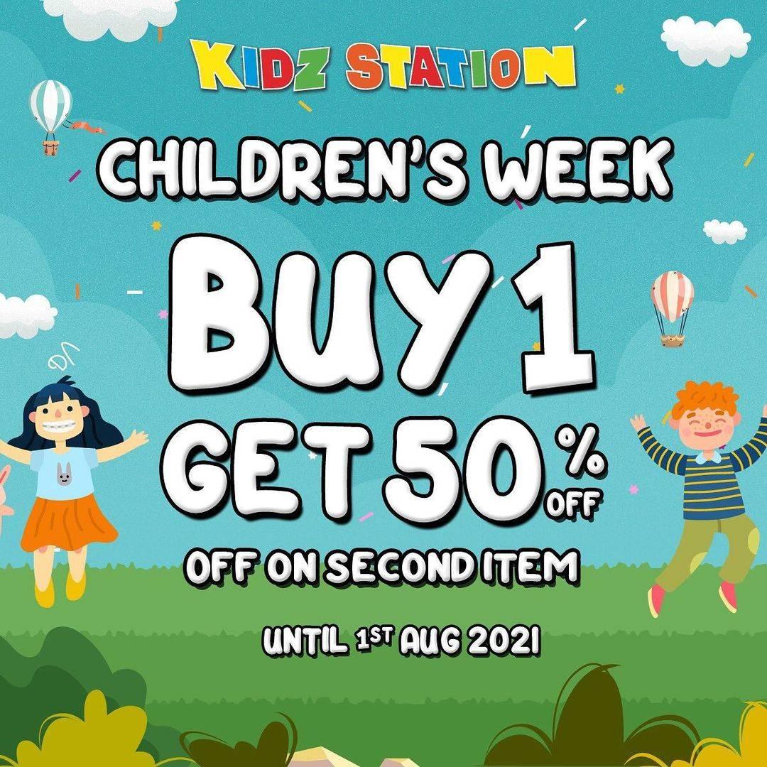 Diskon Kidz Station Children's Week Buy 1 Get Discount 50% Off On 2nd Item