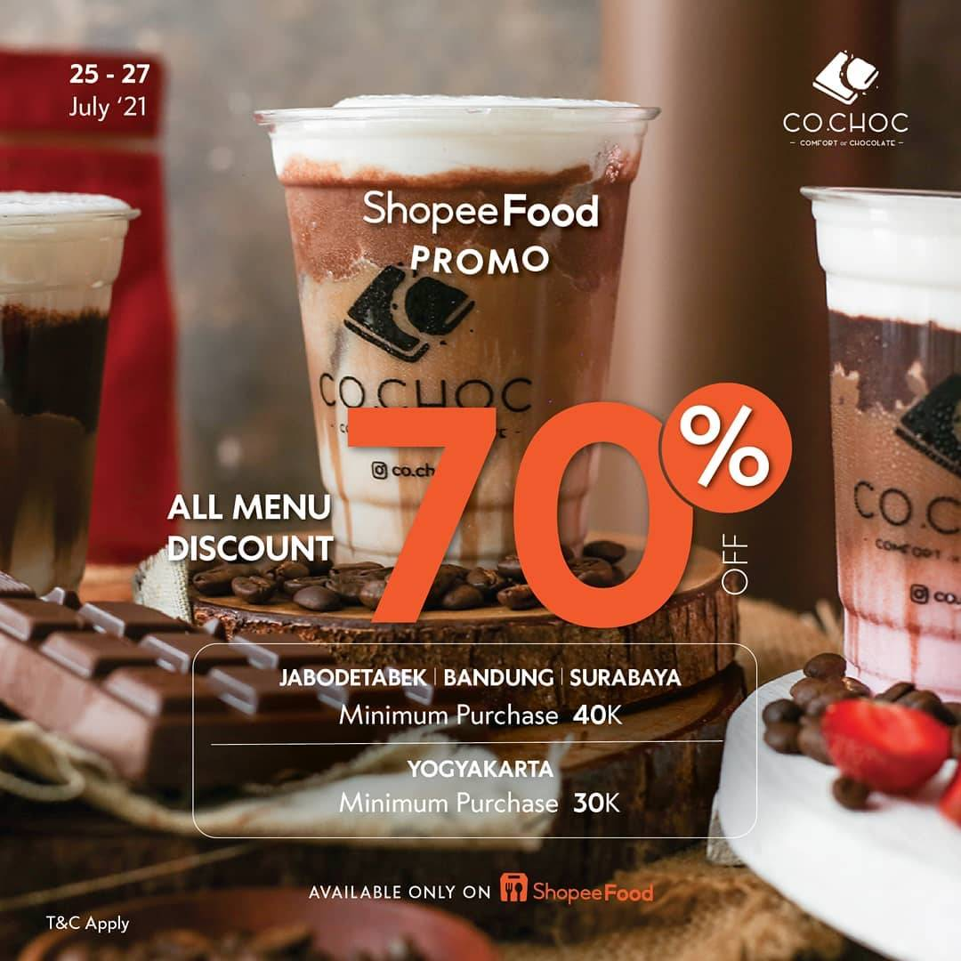 Diskon Co Choc Discount 70% Off On ShopeeFood