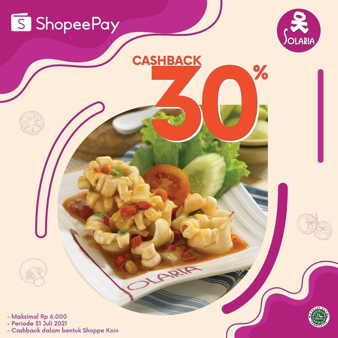 Diskon Solaria Cashback 30% Dengan Shopeepay
