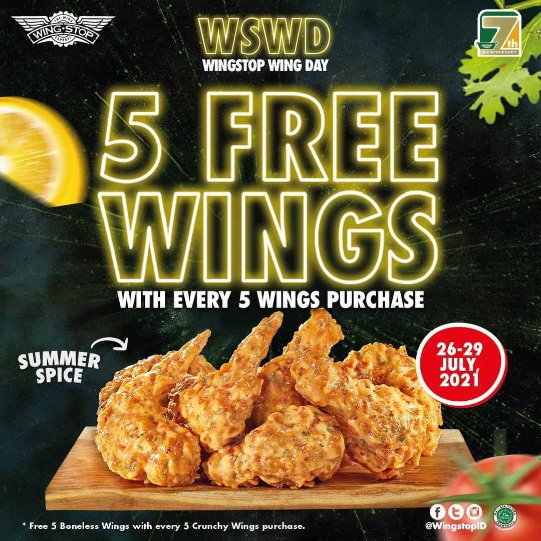 Diskon Wingstop Buy 5 Get 5 Free Wings Summer Spice