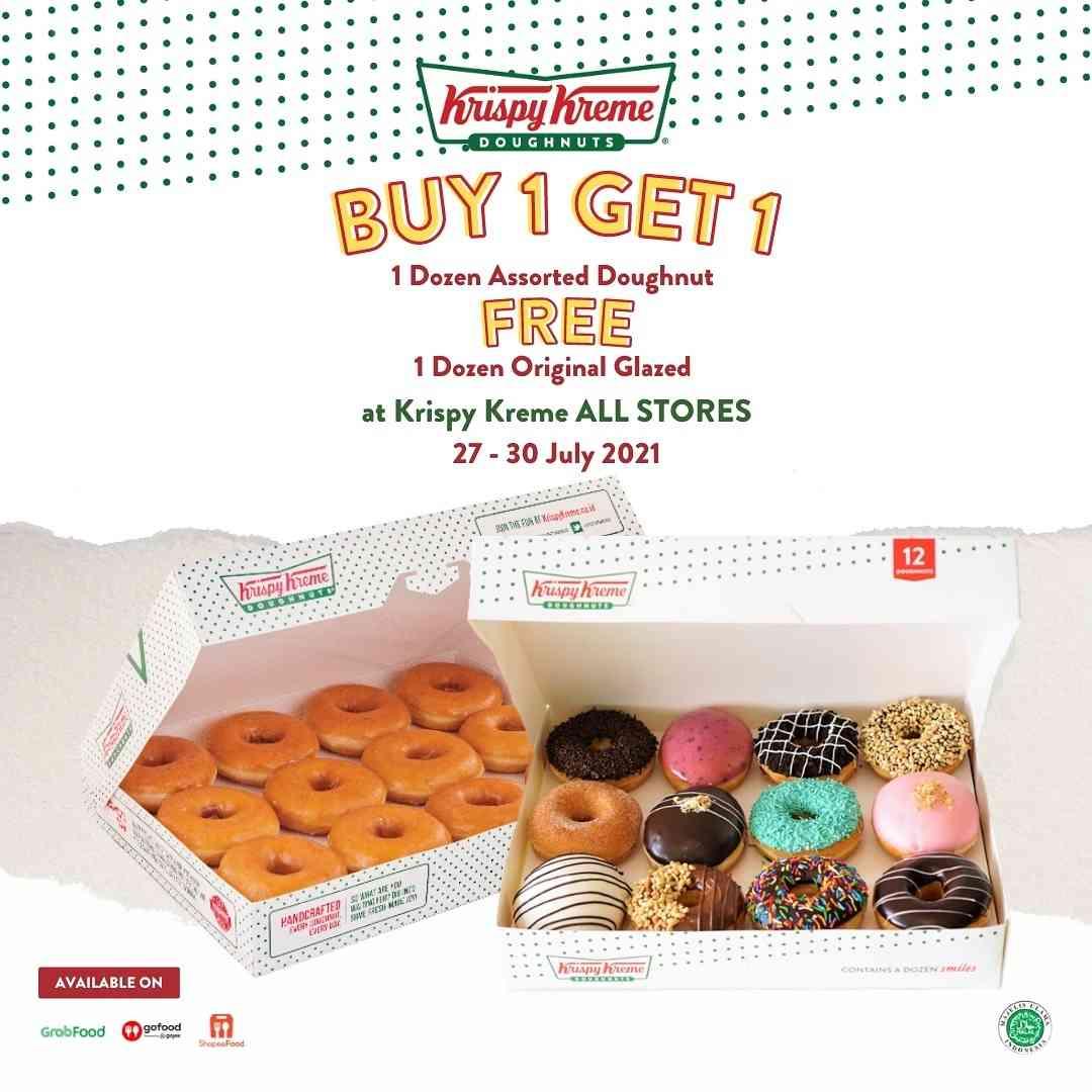 Diskon Krispy Kreme Buy 1 Dzn Assorted Doughnut Get Free 1 Dzn Original Glazed