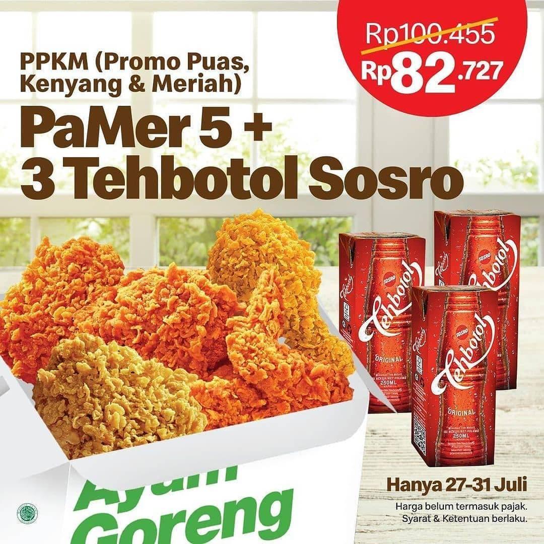 Diskon McDonalds Promo PaMer 5 + 3 Teh Botol Sosro Hanya Rp. 82.727