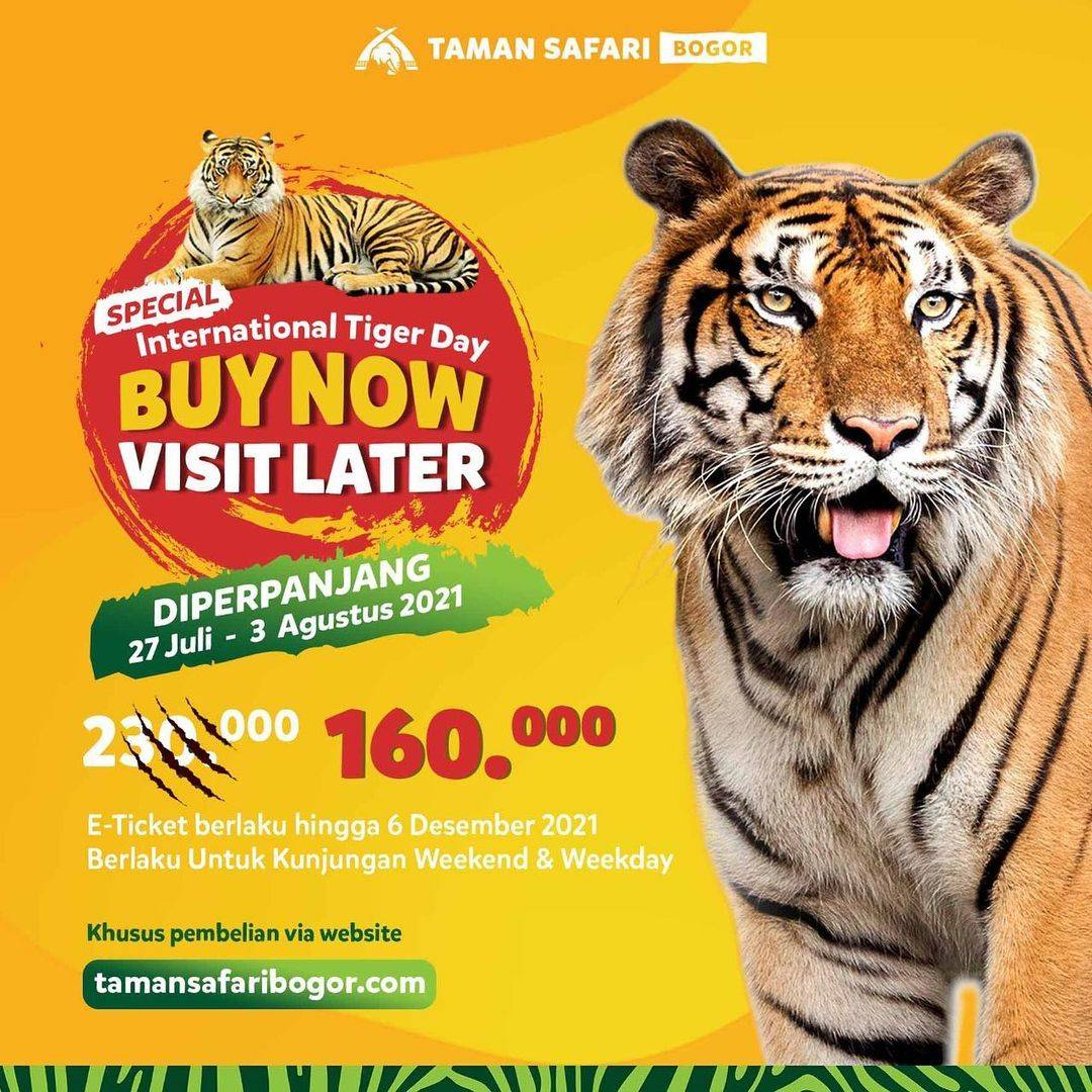 Diskon Taman Safari Promo Buy Now Visit Later Tiket Hanya Rp. 160.000