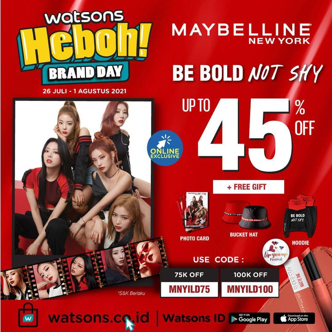 Diskon Watsons Discount Up To 45% Off On Maybelline Products