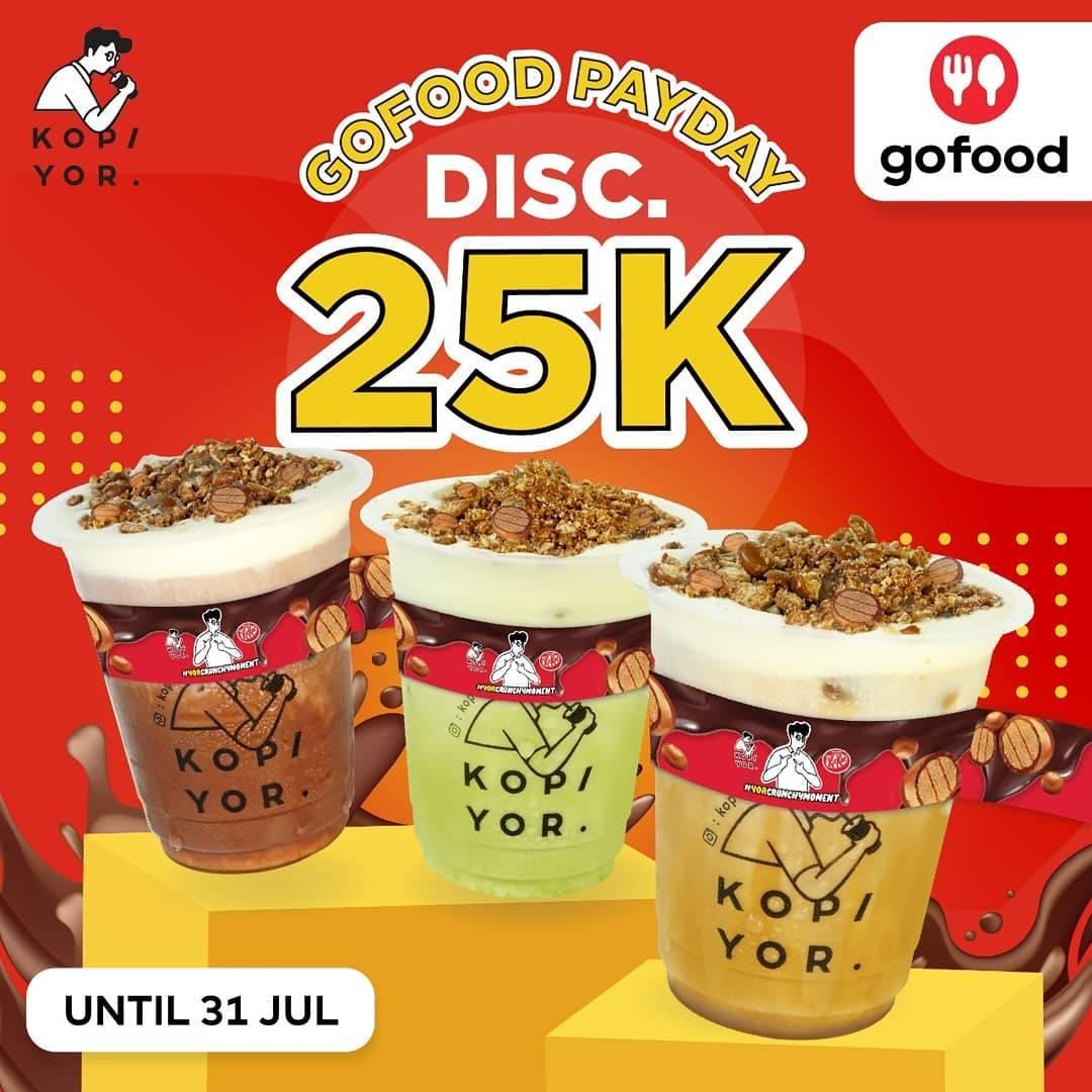 Diskon Kopi Yor Diskon Rp. 25.000 Dengan GoFood