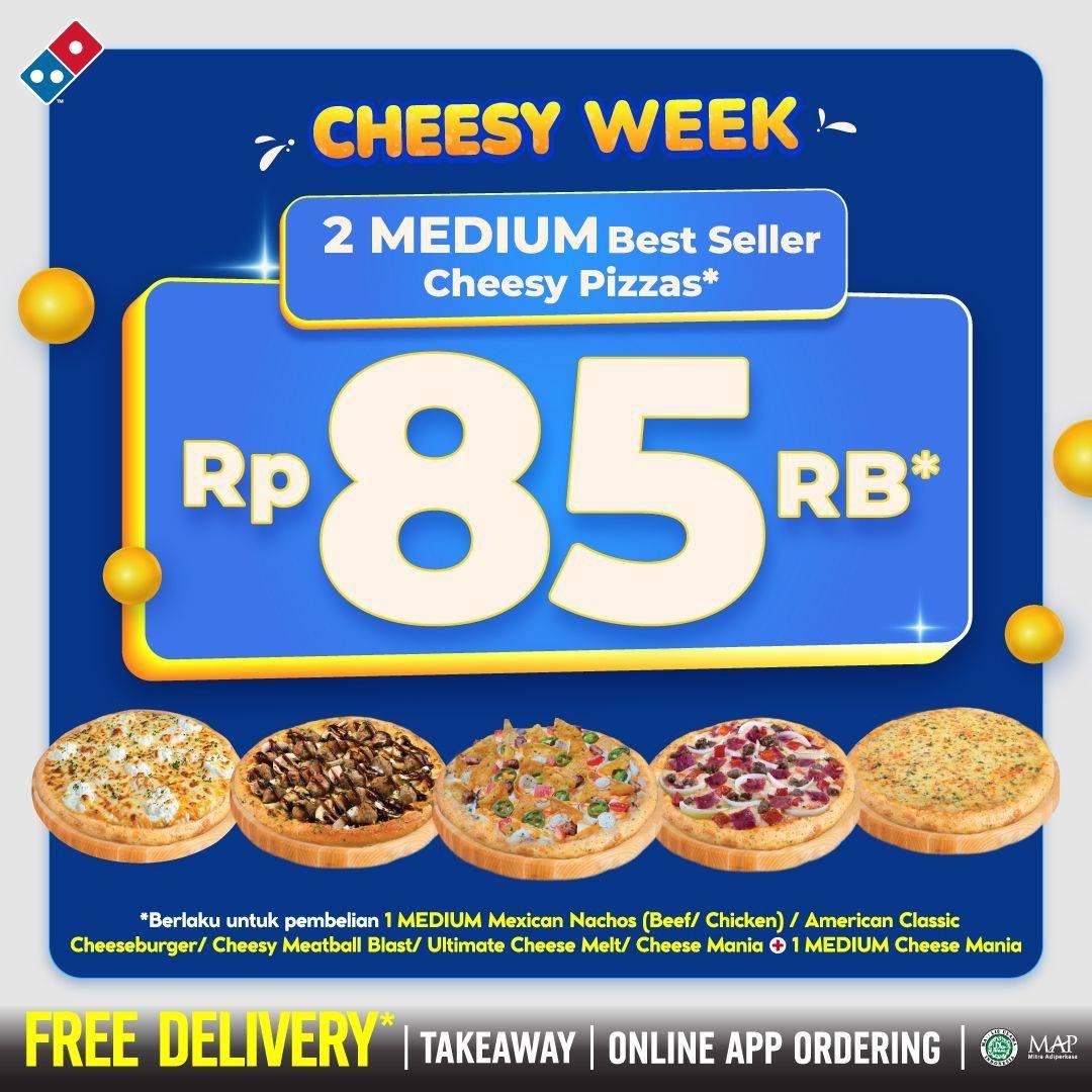Diskon Domino's Pizza Promo 2 Medium Best Seller Pizza Hanya Rp. 85.000