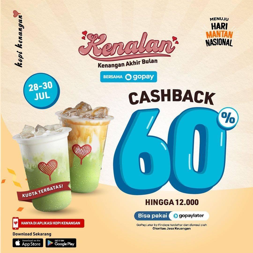 Diskon Kopi Kenangan Cashback 60% Dengan Gopay