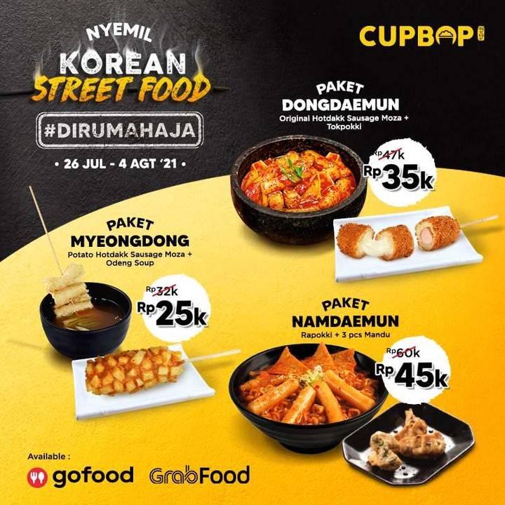 Diskon Cupbob Promo Korean Street Food Di Rumah Aja Mulai Dari Rp. 25.000