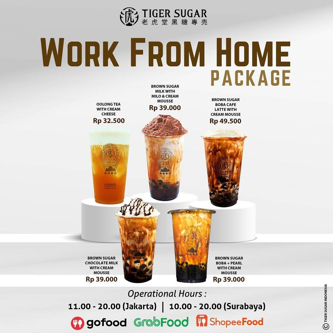 Diskon Tiger Sugar Promo Work From Home Package