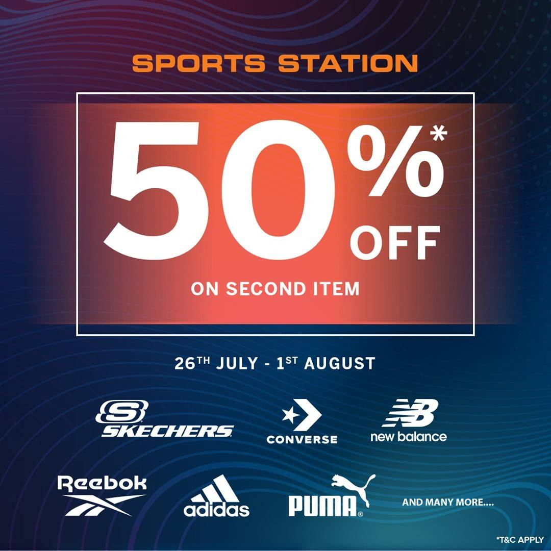 Diskon Sports Station Discount 50% Off On 2nd Item