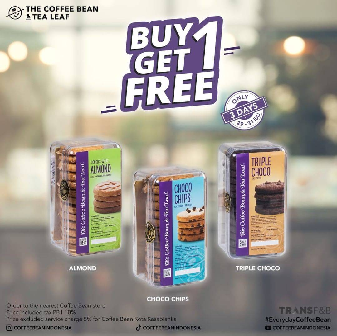 Diskon The Coffee Bean & Tea Leaf Buy 1 Get 1 Free Cookies