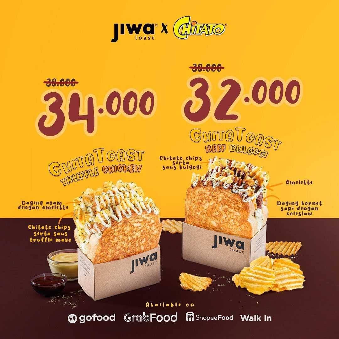 Promo diskon Jiwa Toast Get Free Chitato