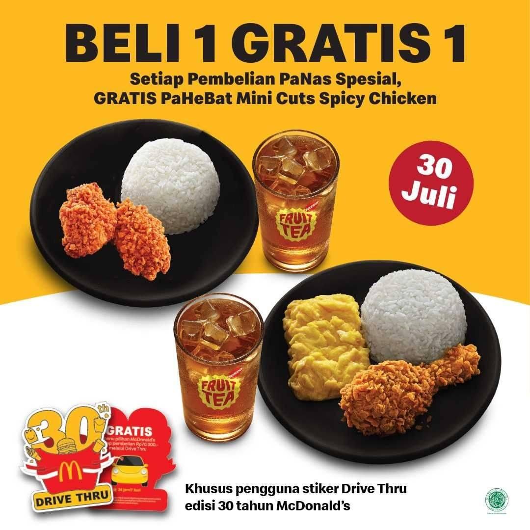 Diskon McDonalds Beli PaNas Spesial Gratis PaHeBat Mini Cuts Spicy Chicken