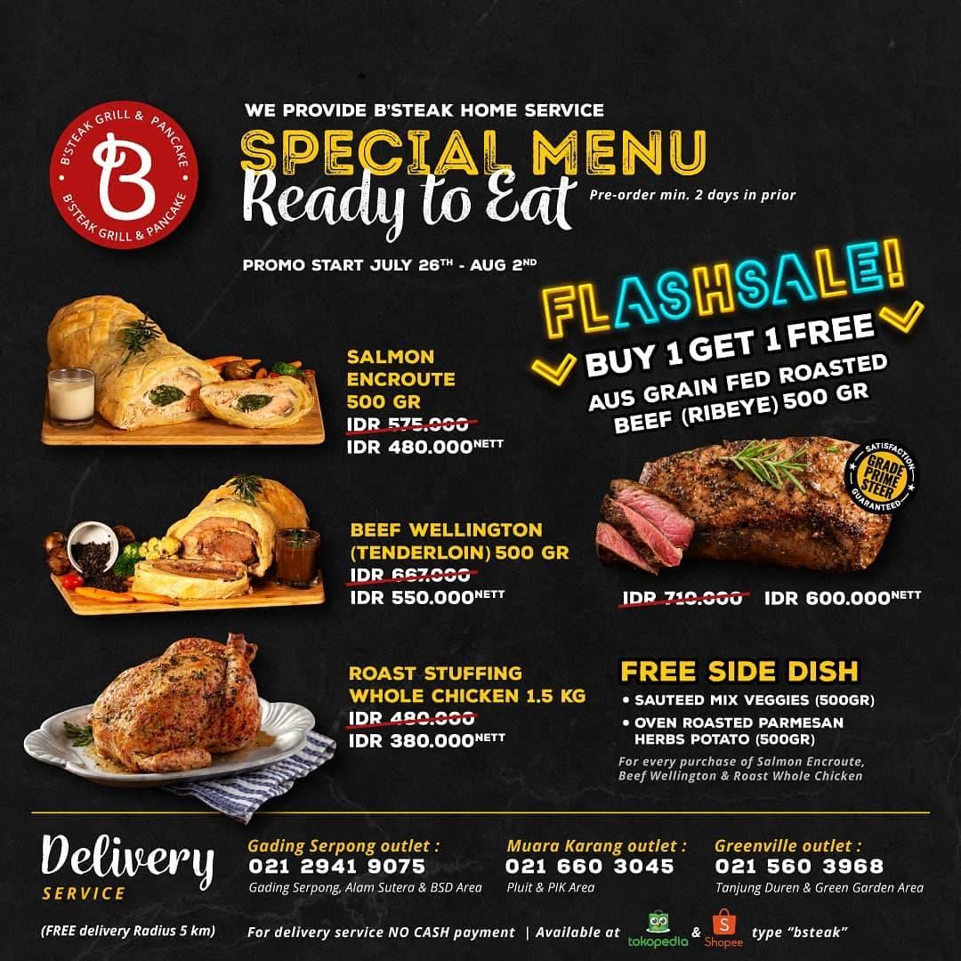 Diskon B Steak Grill Promo Special PPKM Flash Sale Buy 1 Get 1 Free