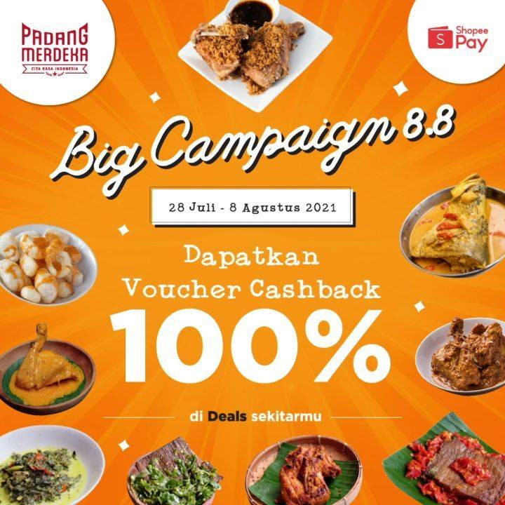 Diskon Padang Merdeka Voucher Cashback Up To 100% Off With Shopeepay