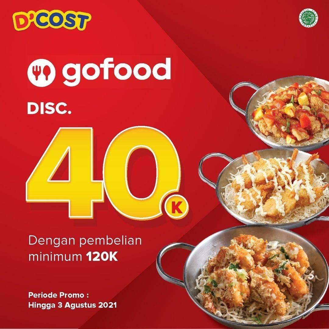 Diskon D'Cost Discount Rp. 40.000 Dengan GoFood