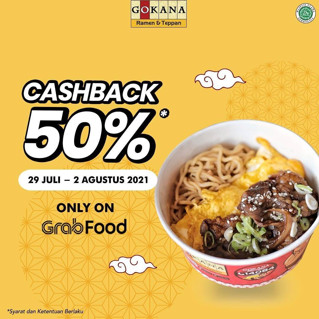 Diskon Gokana Cashback 50% OVO Points On GrabFood