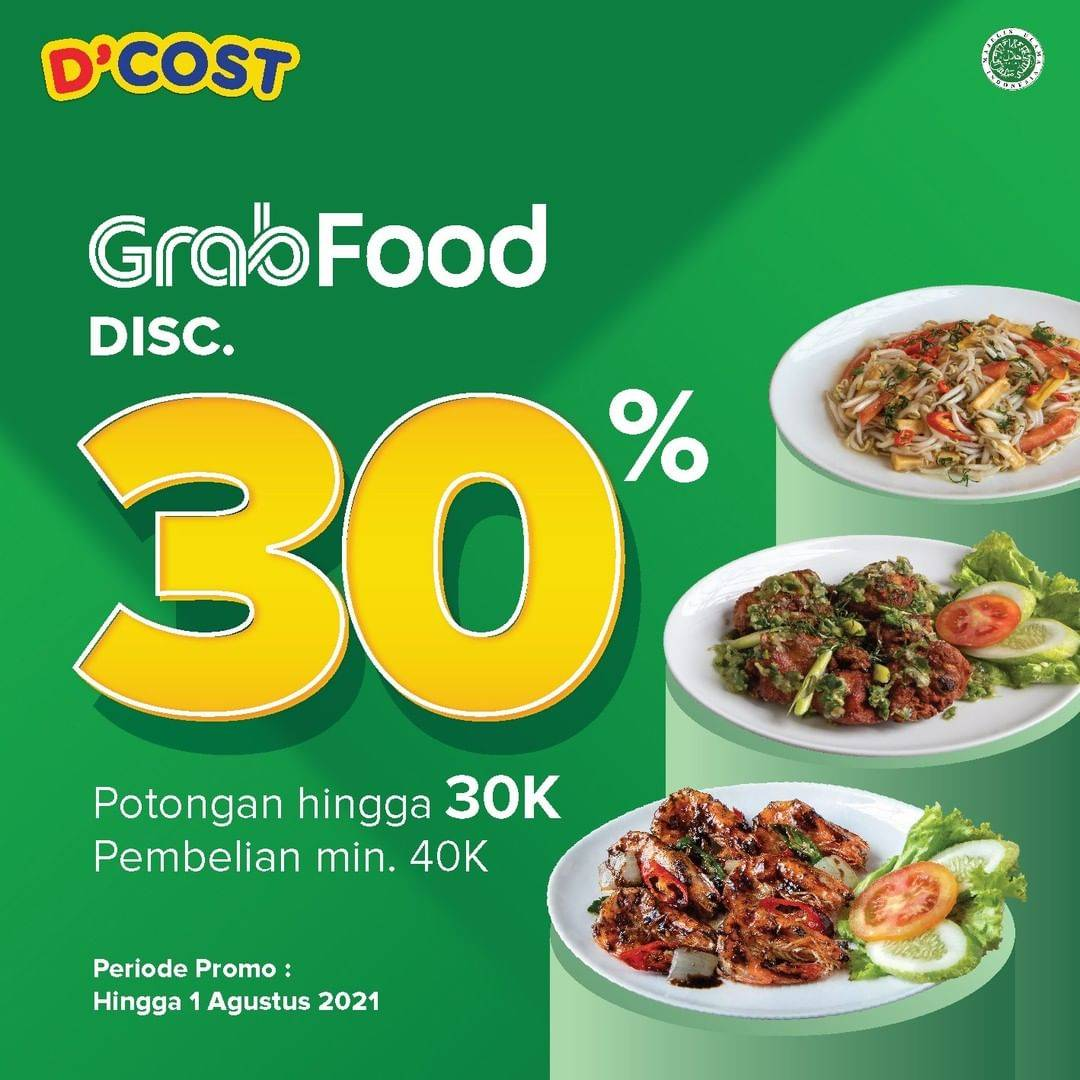 Diskon D'Cost Discount 30% Off On GrabFood