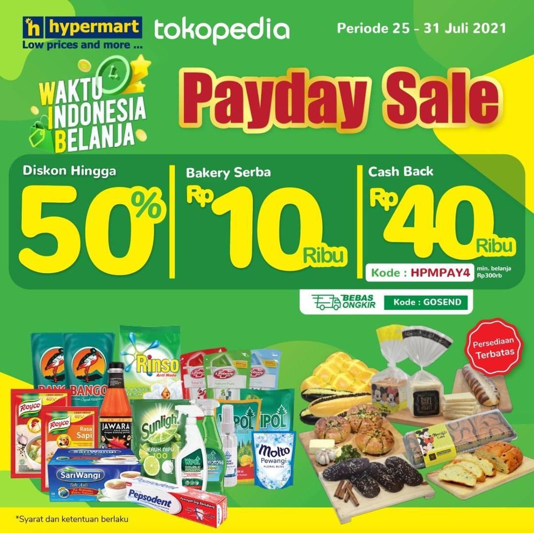 Diskon Hypermart Payday Sale Diskon Hingga 50% Dengan Tokopedia