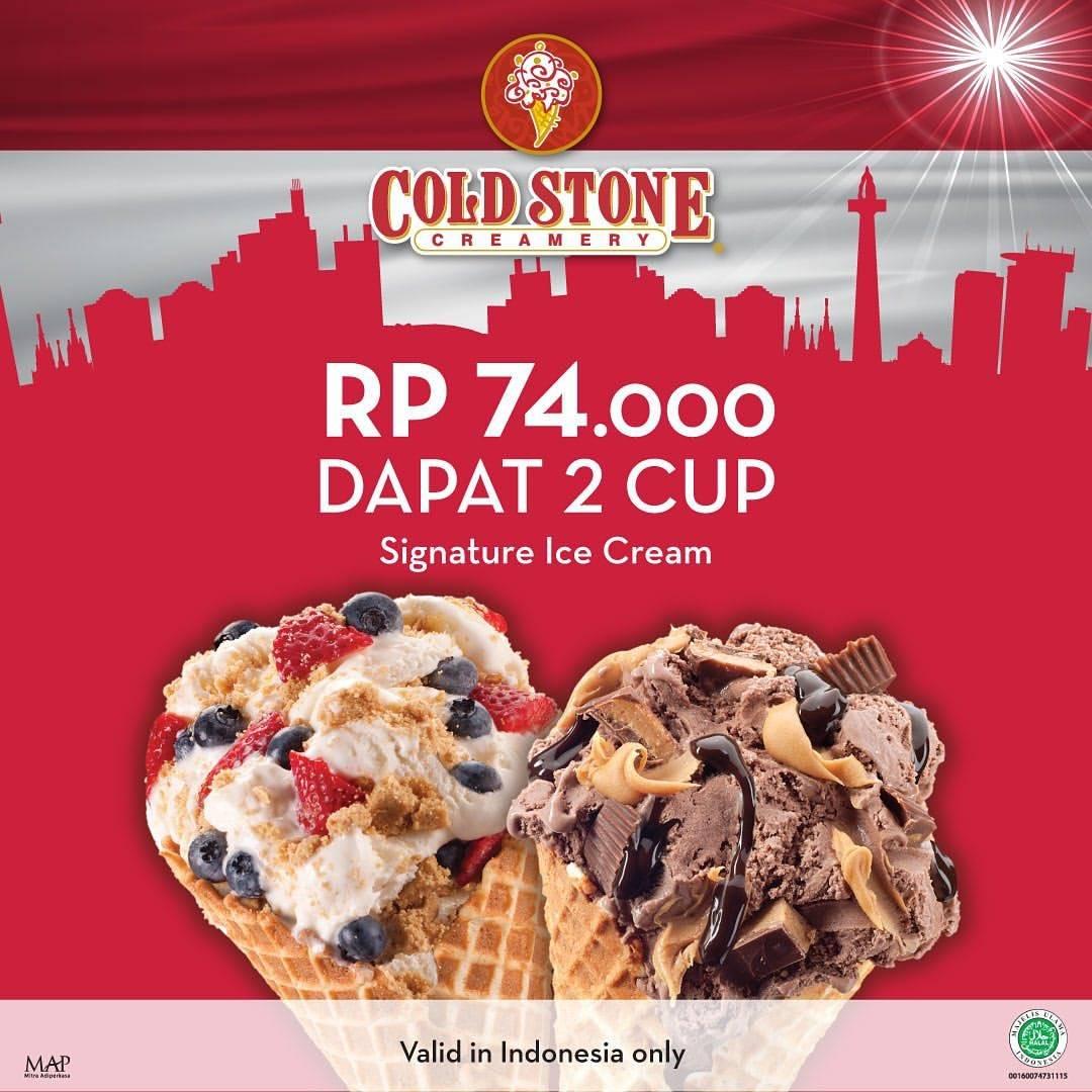 Diskon COLD STONE CREAMERY Promo HUT RI ke 74, Harga Spesial Rp.74.000