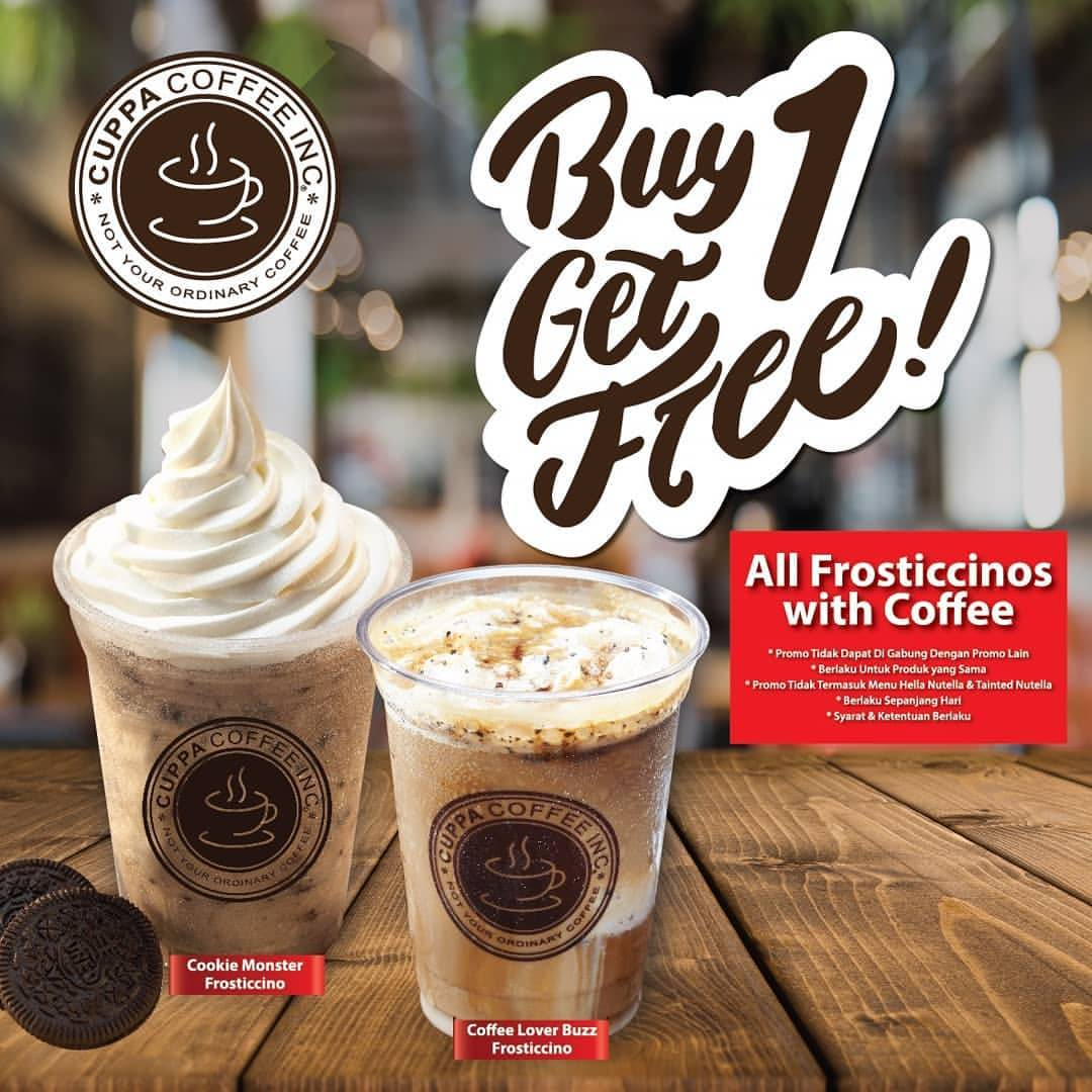 Cuppa Coffee Promo BUY 1 GET 1 FREE*