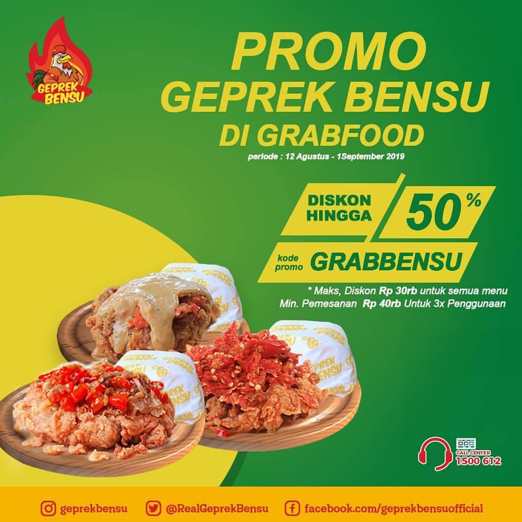 Diskon GEPREK BENSU Promo DISKON HINGGA 50% via GRABFOOD