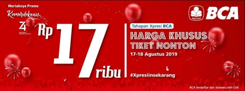 Diskon CGV Cinema Promo Nomat Merdeka Cuma Rp. 17 RIBUAN!