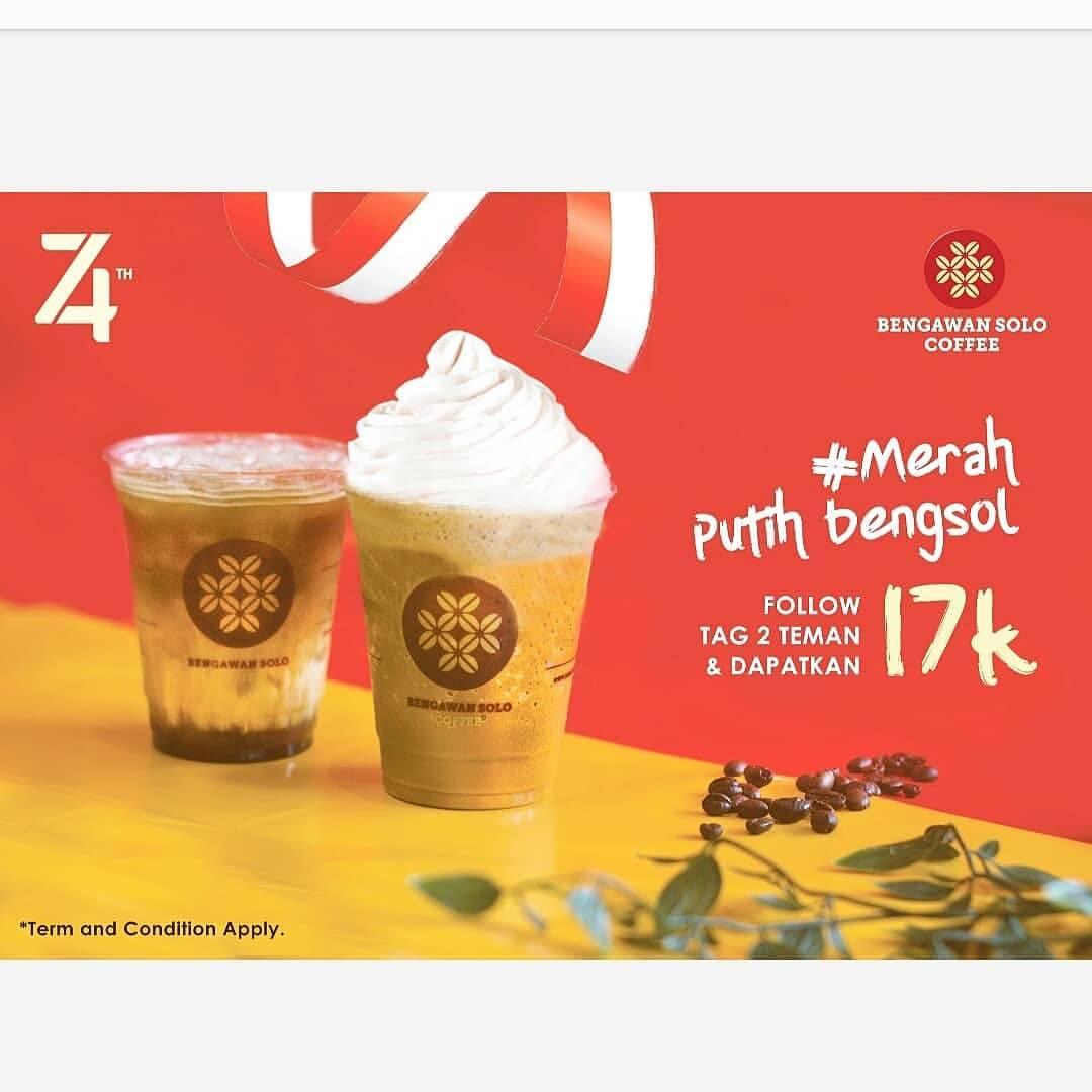 BENGAWAN SOLO Promo Es Kopi Gula Aren atau Iced Poppucino hanya 17K*