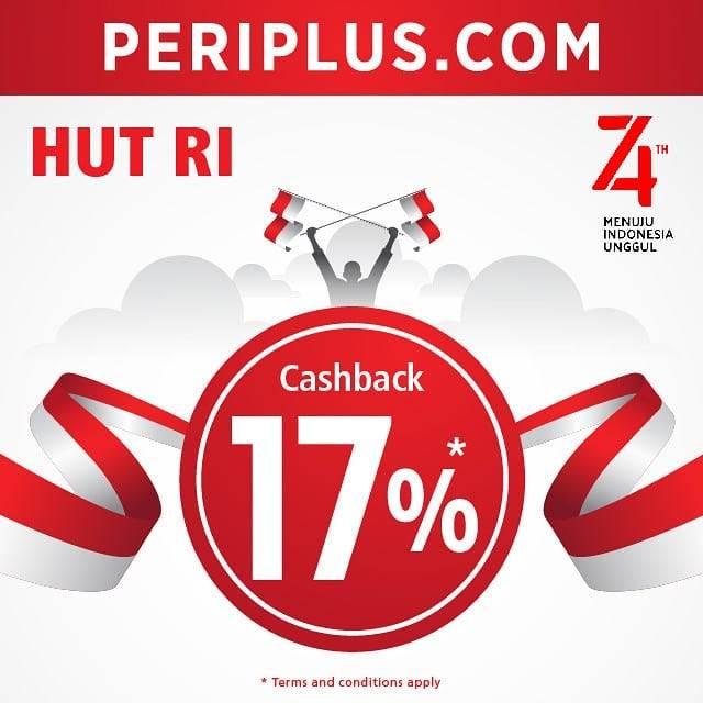 Diskon PERIPLUS.COM Promo HUT RI ke 74, Dapatkan CASHBACK 17%