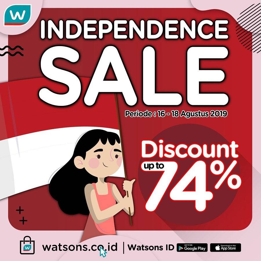 WATSONS Promo Discount up to 74%, Special Item Only 75K, Discount Voucher 17K!