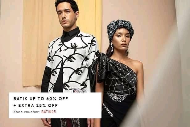 Zalora Promo Batik Diskon Hingga 60% + 25%