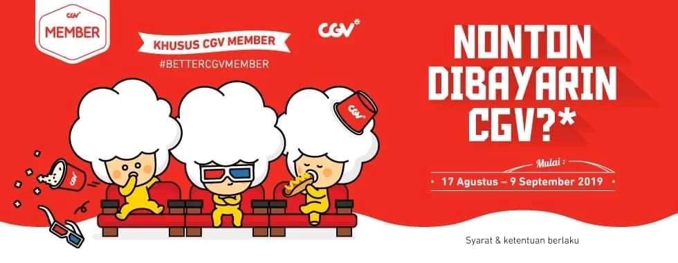 Diskon CGV Cinema Promo Spesial Merdeka, Gratis Nonton Dibayarin!