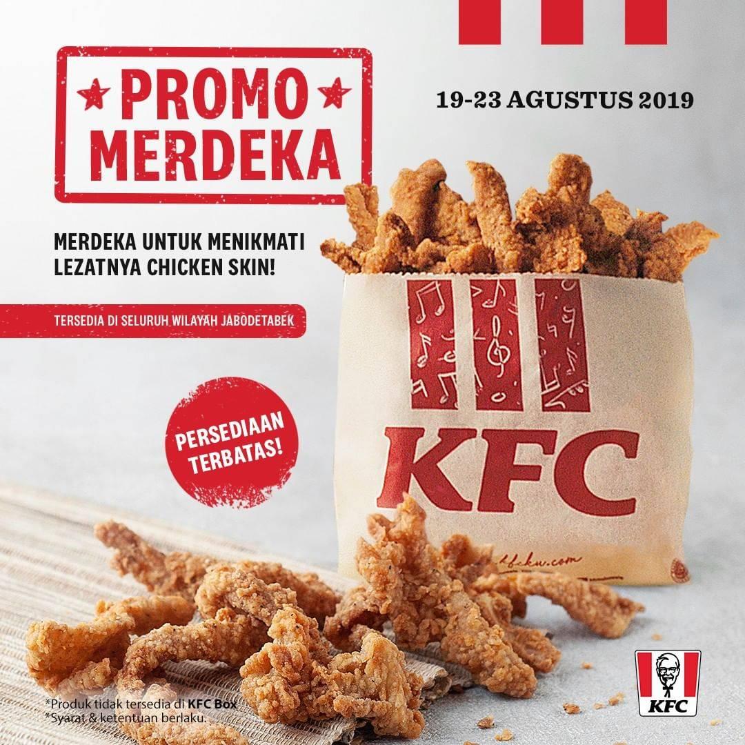 Diskon KFC Promo MERDEKA, CHICKEN SKIN KINI TERSEDIA di KFC wilayah Jabodetabek